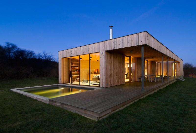 Maison moderne en bois - maison parallele