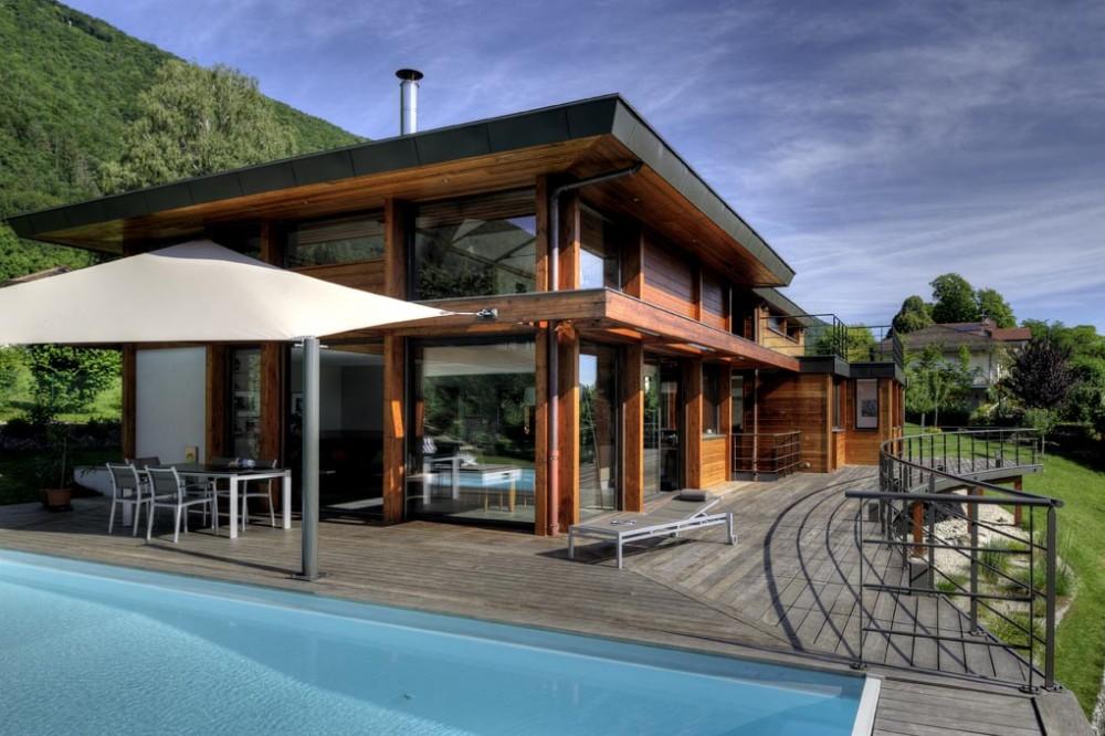 Maison contemporaine ossature bois - maison parallele