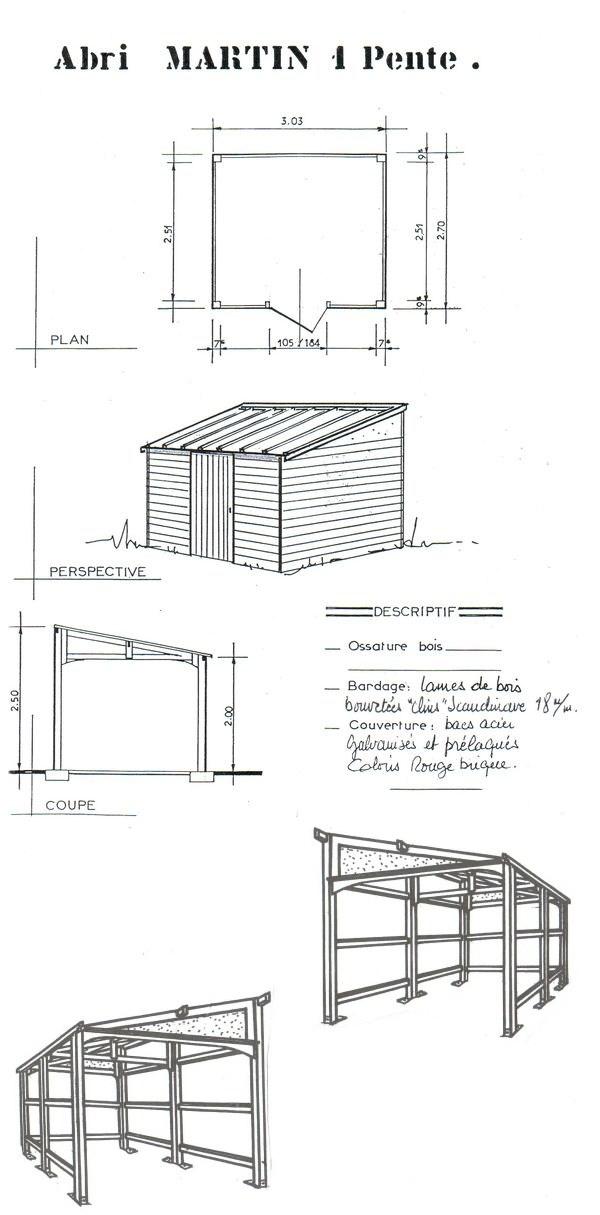 Plan abri de jardin en bois gratuit