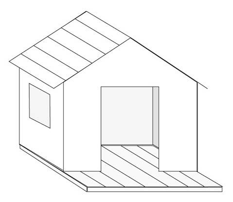 Plan de cabane en bois