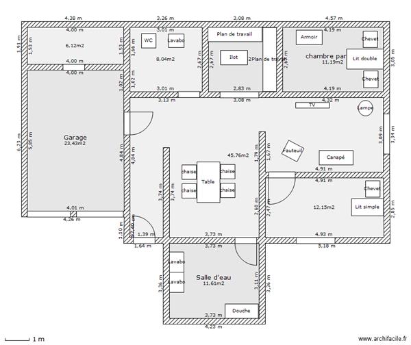 Plan de maison simple