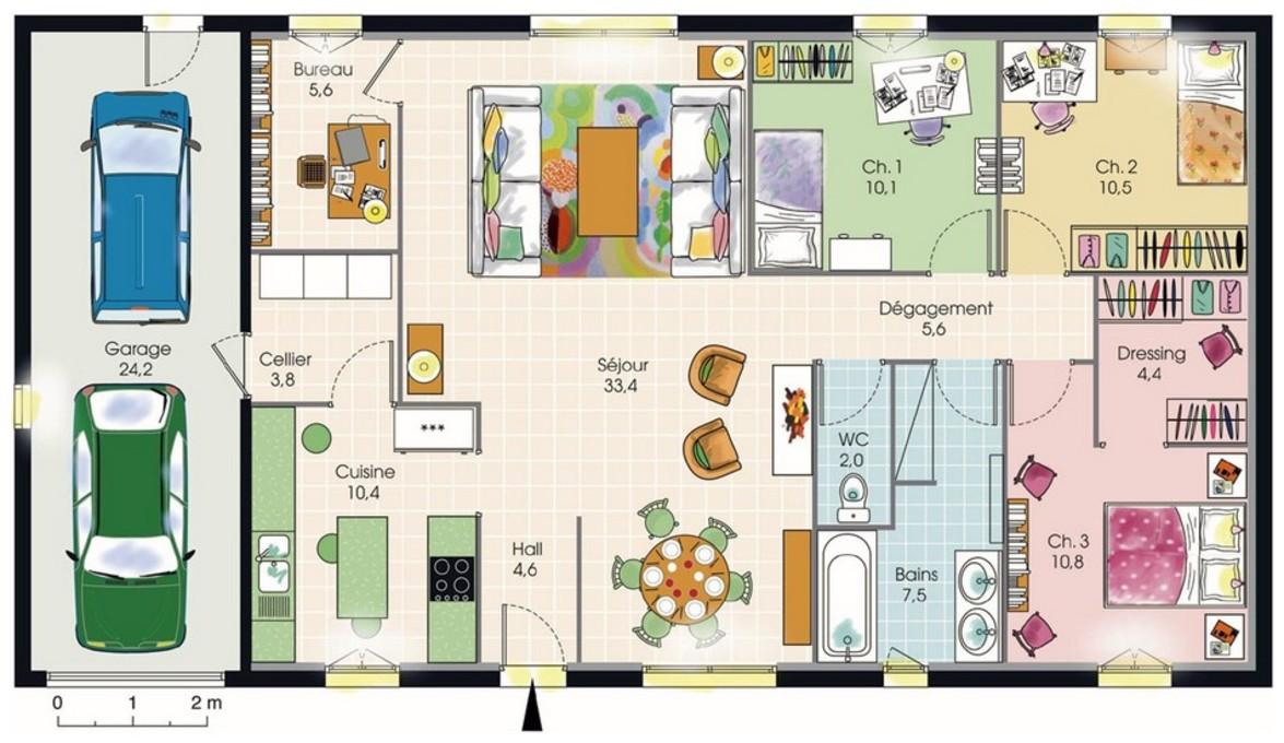Plan maison bbc plain pied