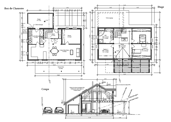 Plan structure maison ossature bois