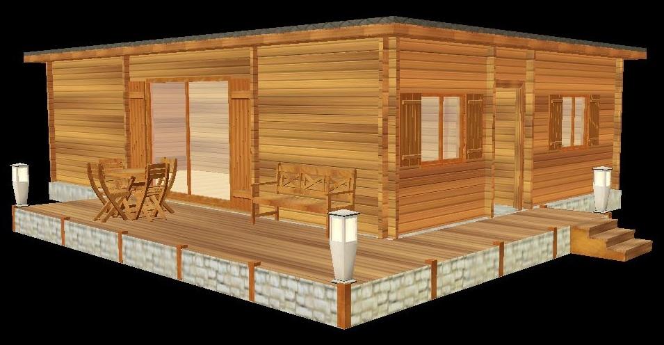 Maison Ossature Bois Kit Madrier Segu Maison