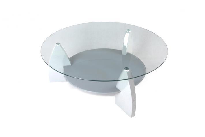 Table basse ronde en verre pas cher
