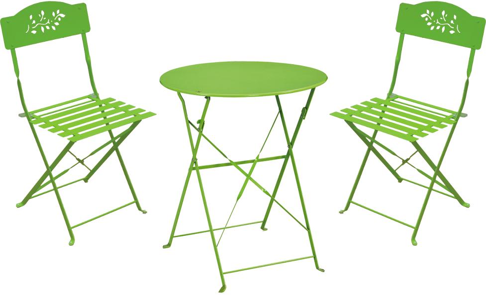 Petite table de jardin avec 2 chaises