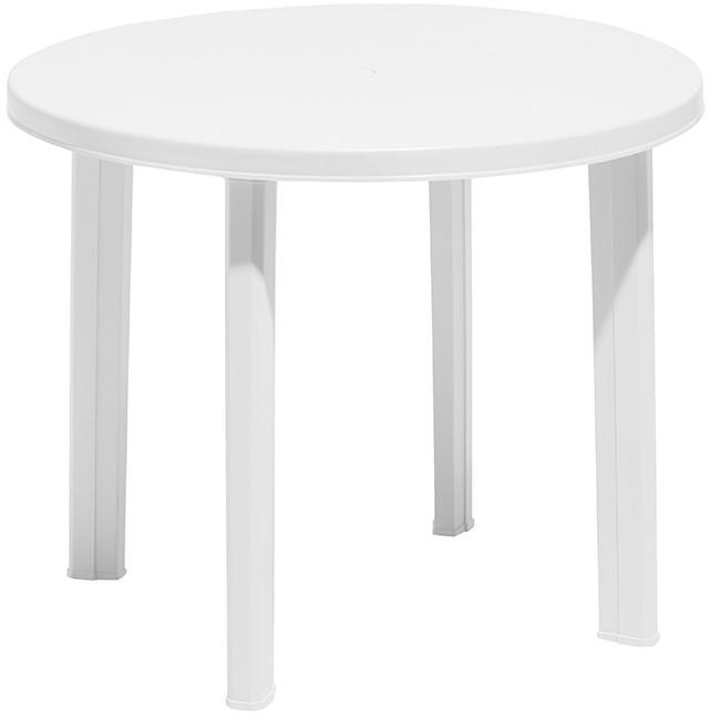Table de jardin ronde plastique - maison parallele