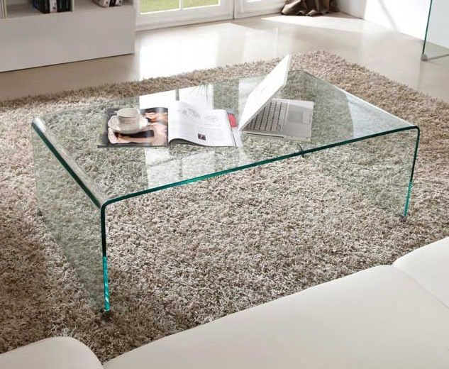 Table basse salon en verre