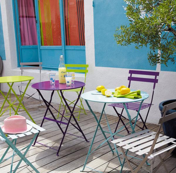 Petite table ronde jardin - maison parallele