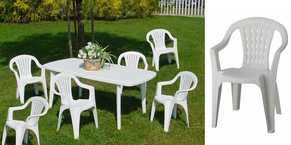 Table De Jardin Pvc Blanc Carrefour | Chaise Jardin Pvc Blanc Phil ...
