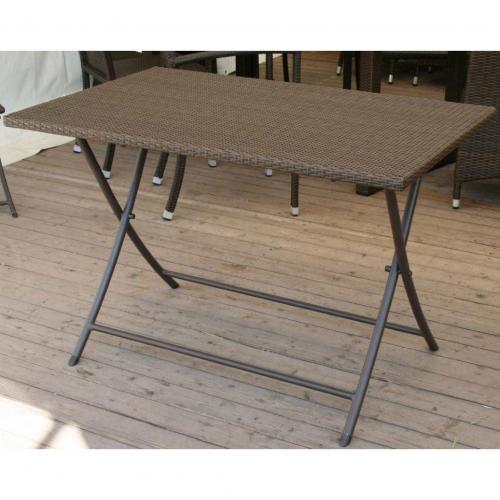 Table de jardin pliante en résine - maison parallele
