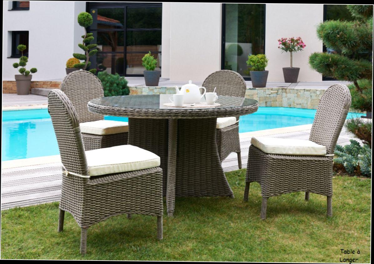 Salon de jardin avec table ronde - maison parallele