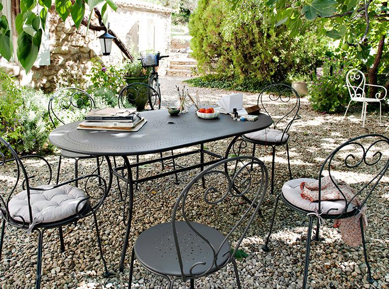 table jardin fer forgé - maison parallele
