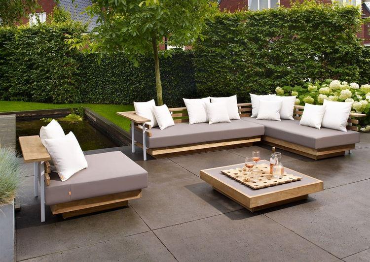 Salon de jardin bois blanc