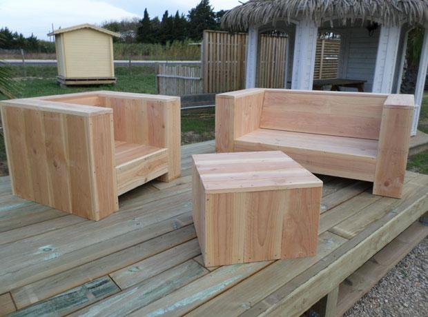 Meuble exterieur bois - maison parallele