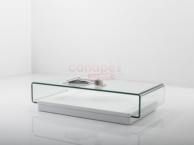Table basse verre pas cher
