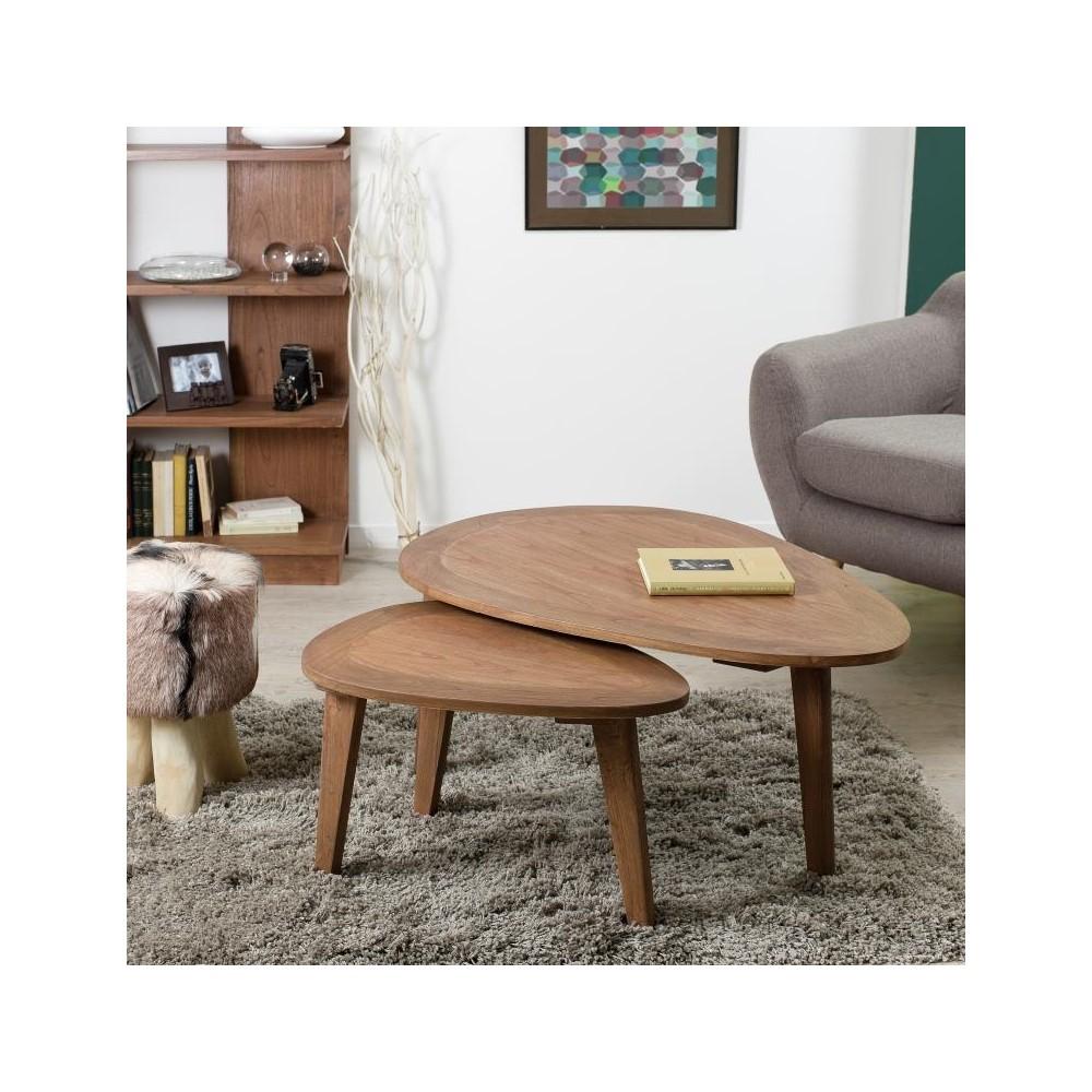 Petite table de salon en bois