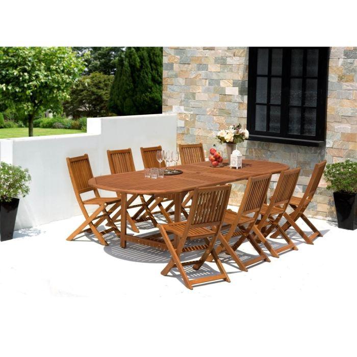 Table et chaise de jardin en teck pas cher - maison parallele