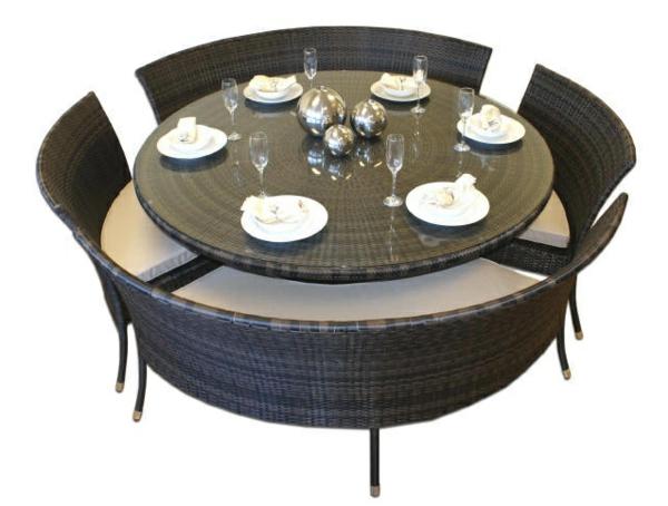 Table jardin ronde resine - maison parallele