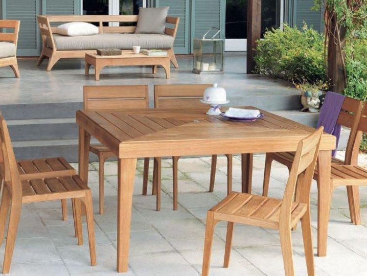 Table et chaise de jardin bois