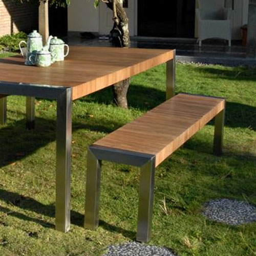 Emejing Table De Jardin Bois Et Metal Ideas - House Design ...