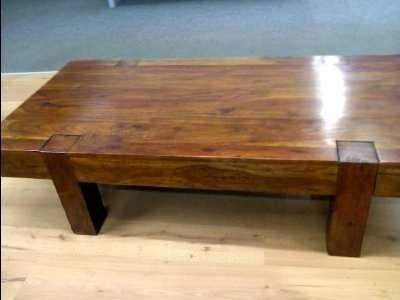 Table basse bois massif pas cher - maison parallele