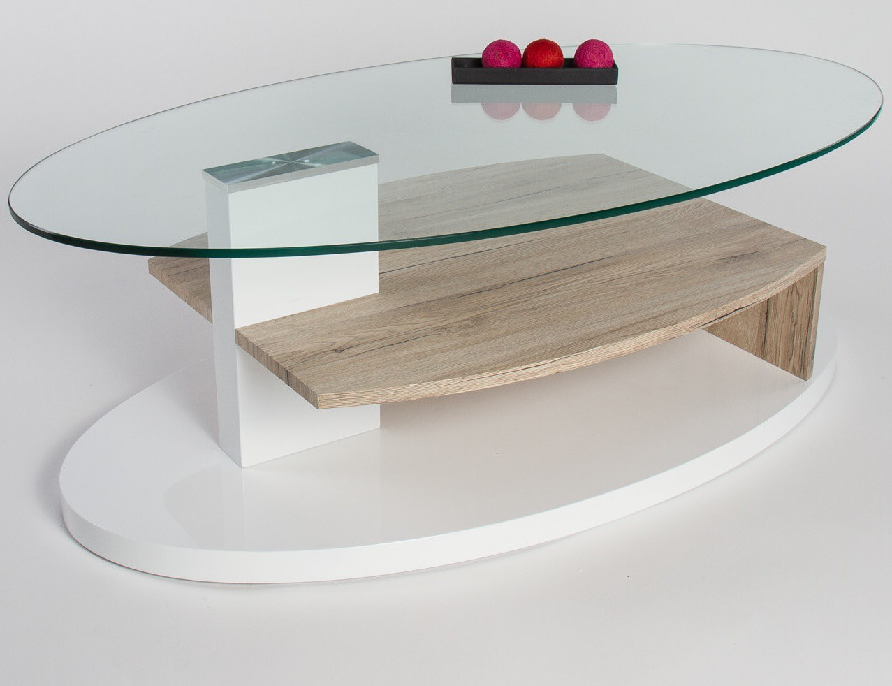 Table basse verre bois design