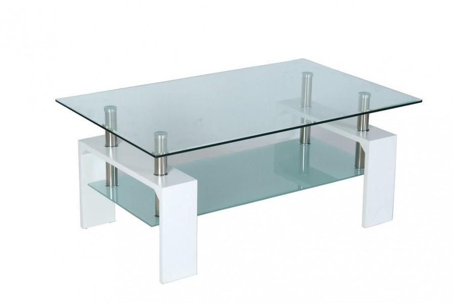 Table salon design verre