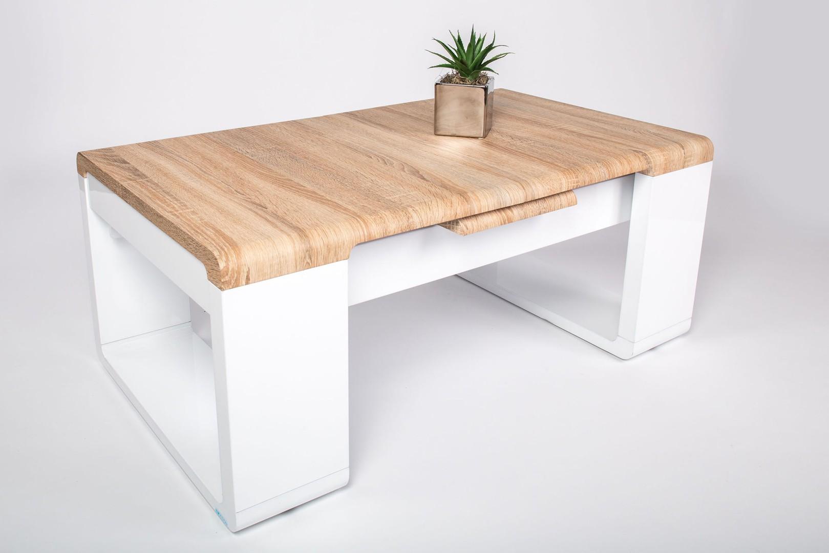 Table basse bois blanc