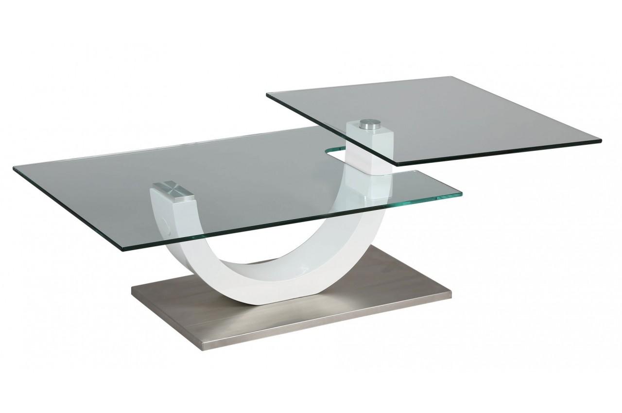 Table basse contemporaine en verre