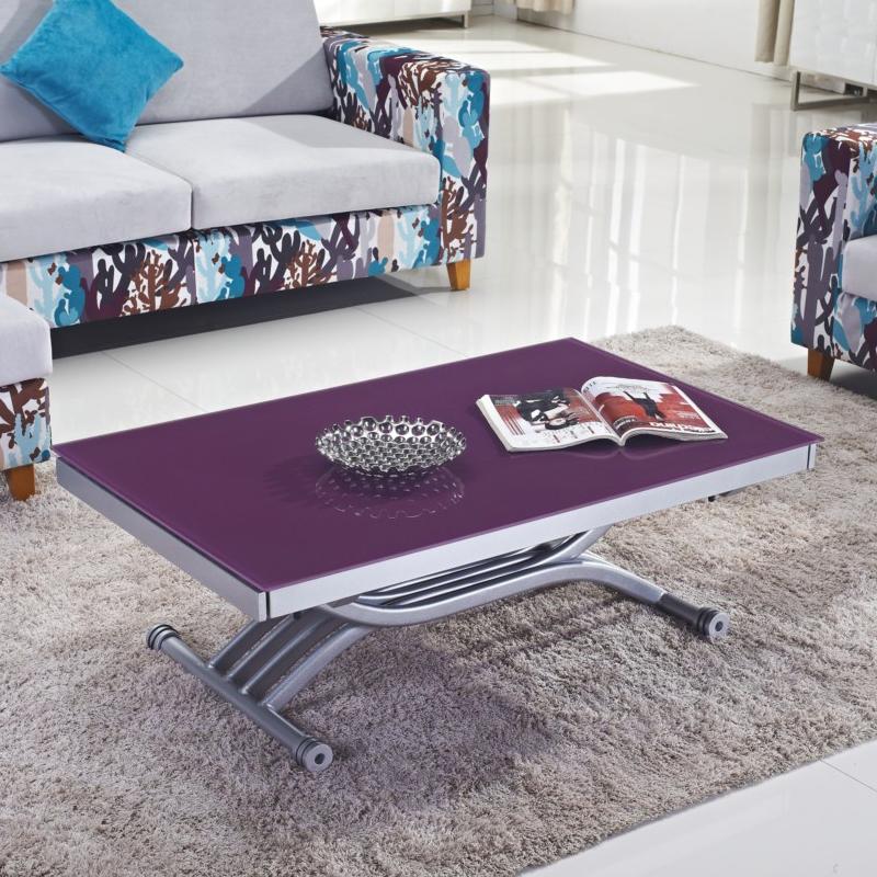Table basse violette