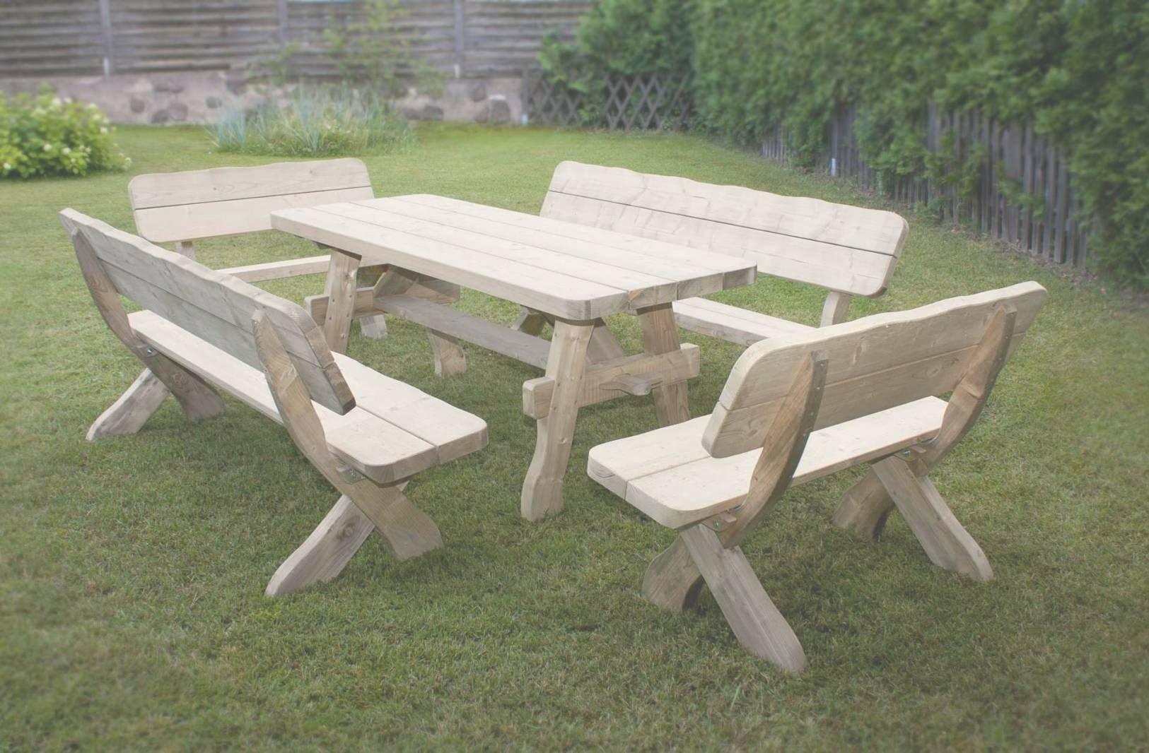 table de jardin bois pas cher maison parallele