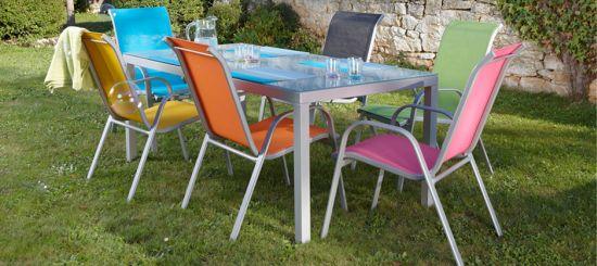 Table de jardin couleur - maison parallele