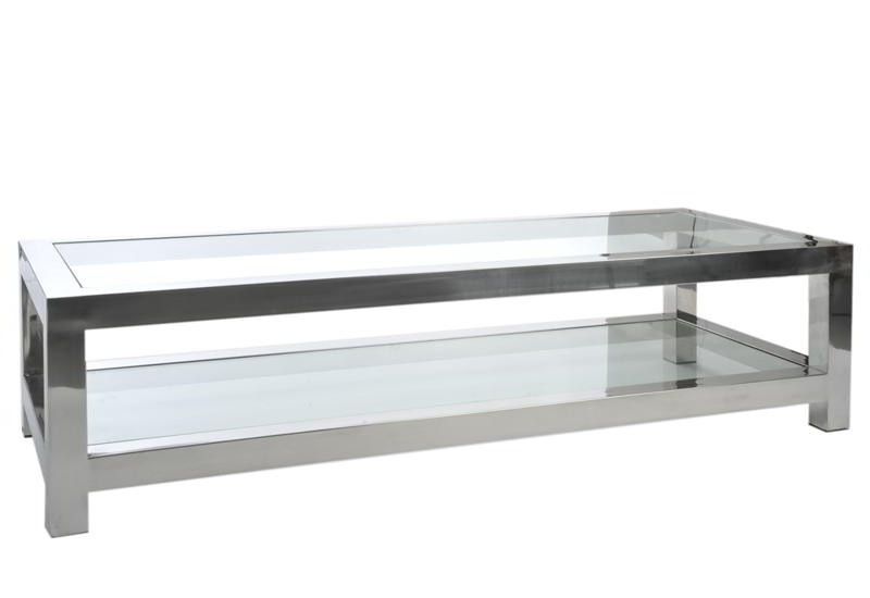 Table basse salon verre
