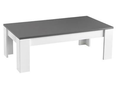 Table basse blanche et grise maison parallele Table grise et blanche