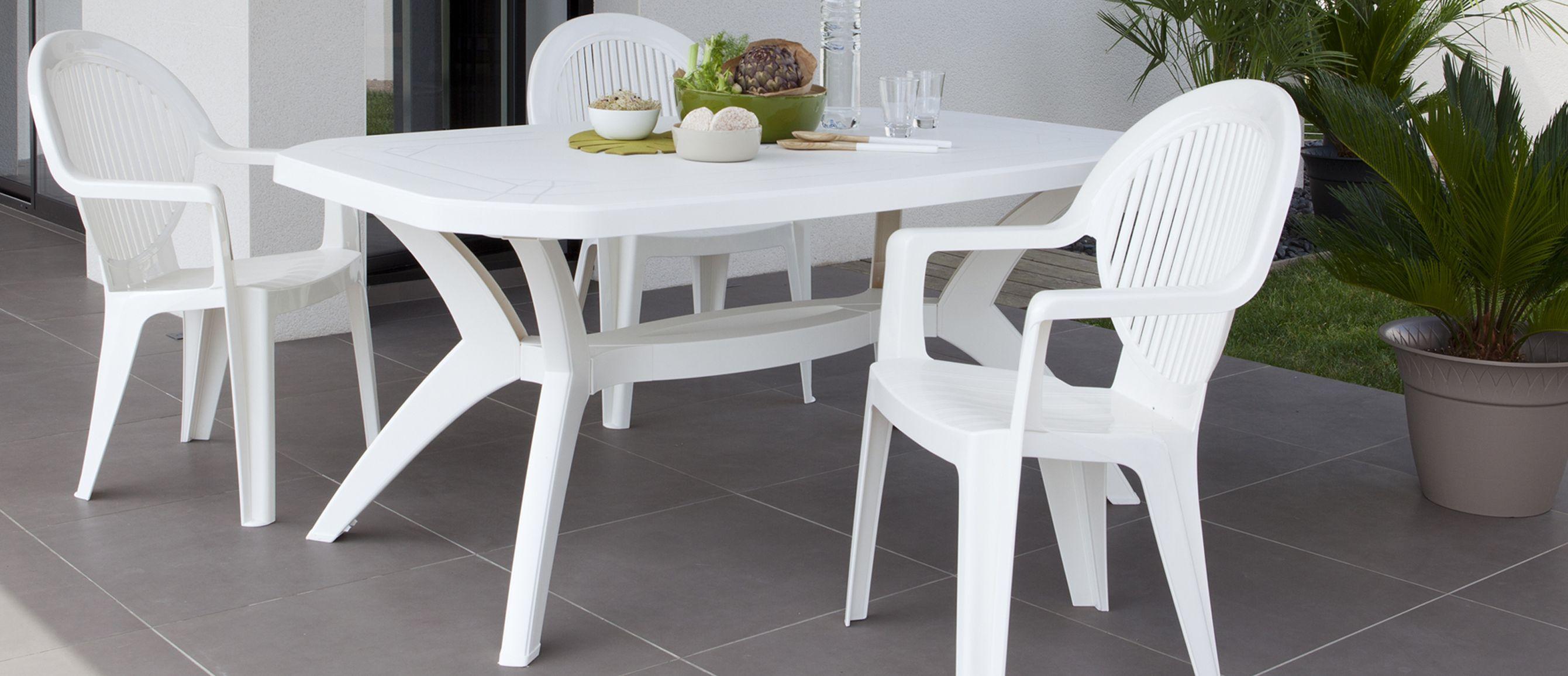 Stunning Table De Jardin Blanche Plastique Pictures - House Design ...