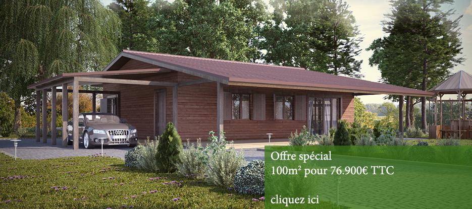 Armature bois maison parallele for Constructeur chalet prix