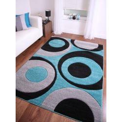 Tapis moderne bleu