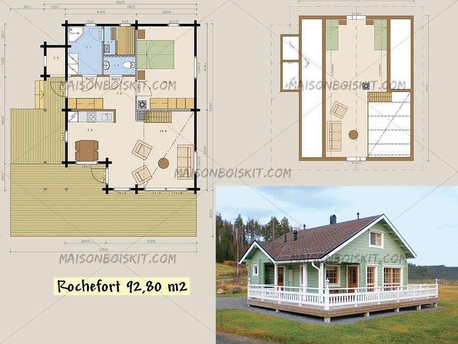 prix maison bois en kit maison parallele. Black Bedroom Furniture Sets. Home Design Ideas