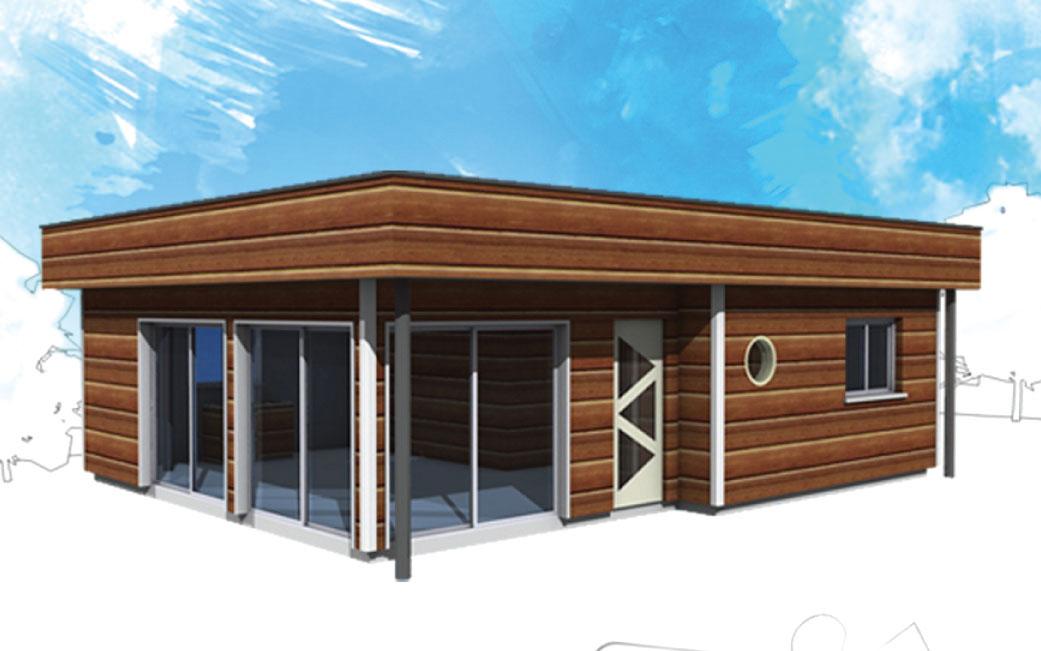Kit ossature bois maison parallele for Maison en kit bois