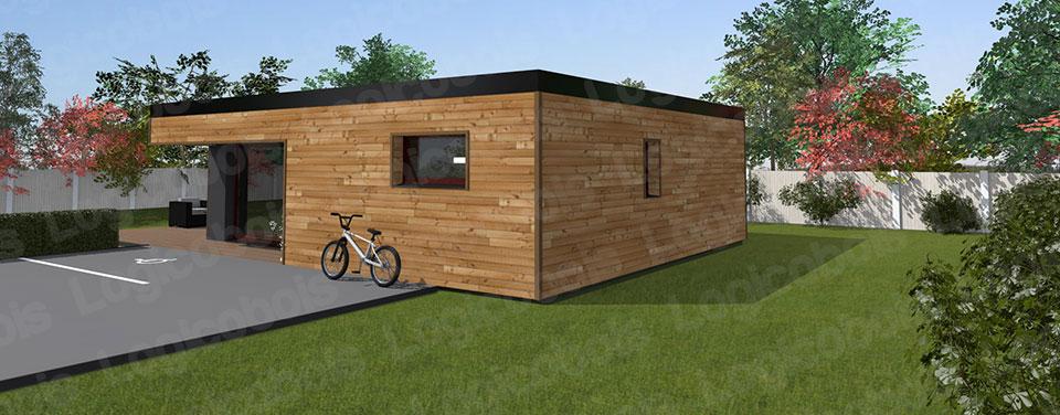 Petite maison cube bois