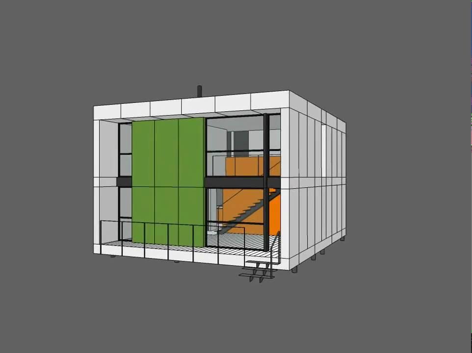 Maison cube en bois en kit