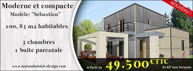 maison en bois 100m2 prix maison parallele. Black Bedroom Furniture Sets. Home Design Ideas