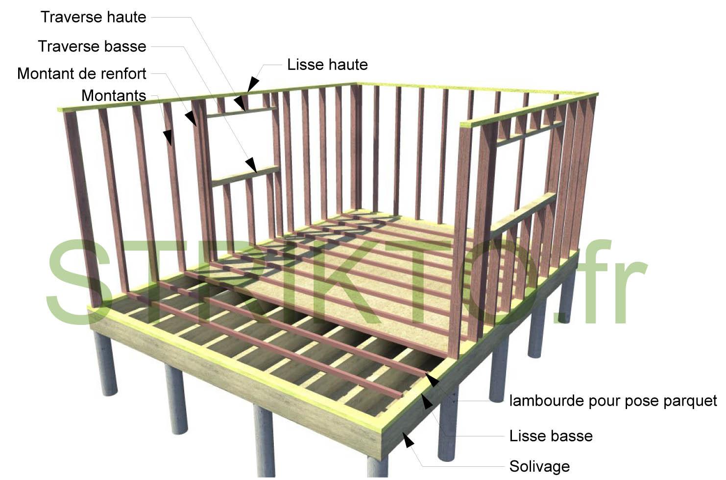 Structure en bois pour maison maison parallele - Maison nature et bois ...
