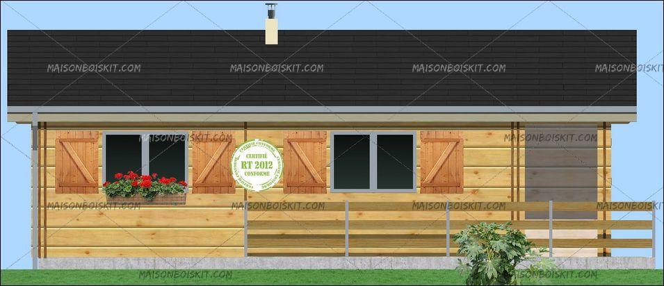 chalet en bois 70m2 maison parallele. Black Bedroom Furniture Sets. Home Design Ideas