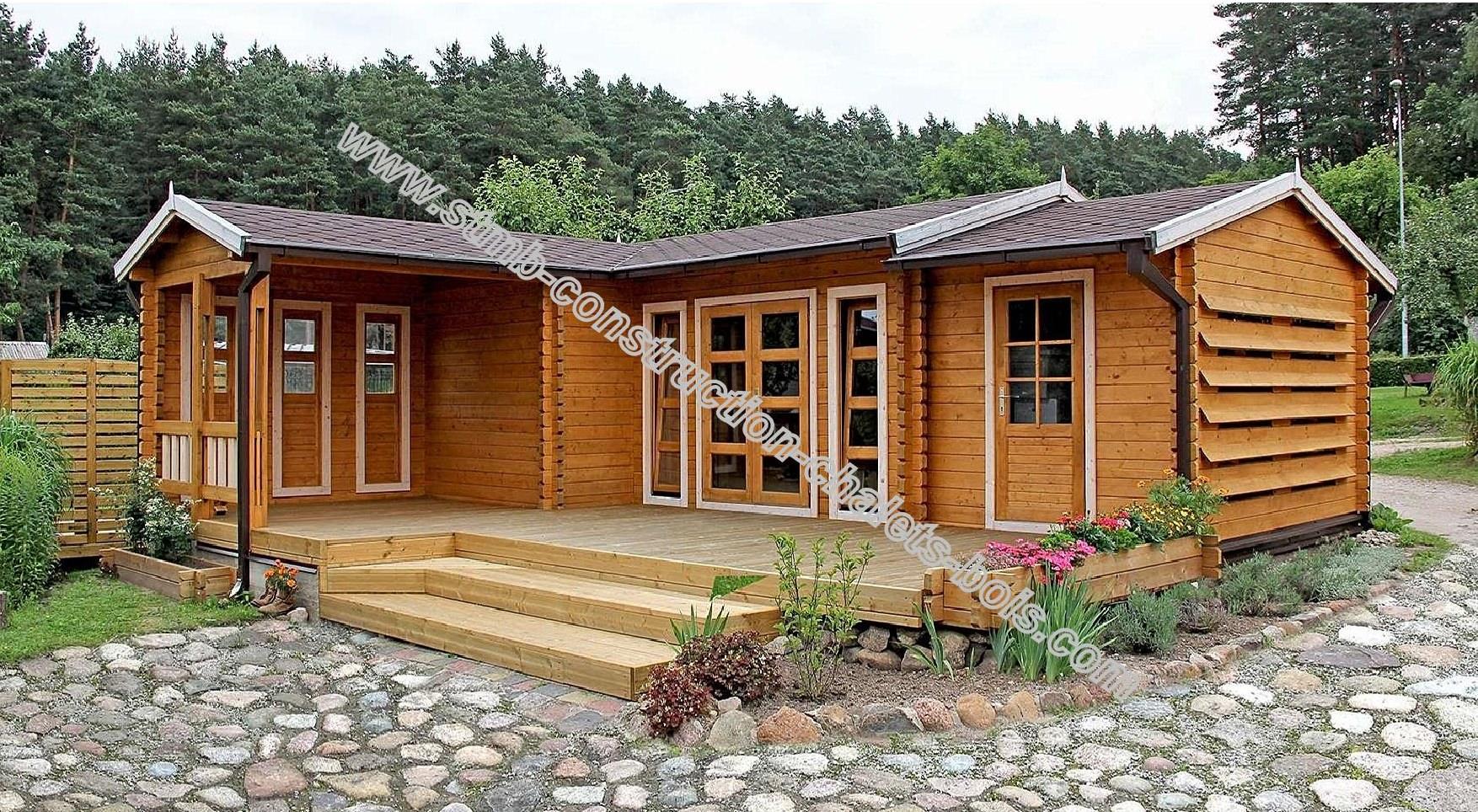 Maison bois 50m2 maison parallele - Petite maison bois pas cher ...