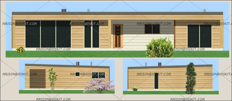 maison en bois contemporaine en kit maison parallele. Black Bedroom Furniture Sets. Home Design Ideas
