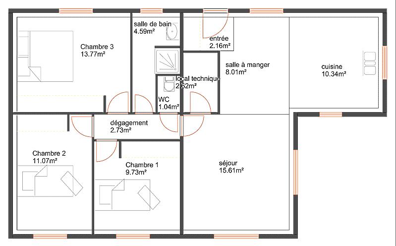 Prix maison bois 90m2