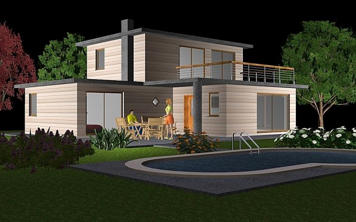 Chalet bois 60m2 prix maison parallele - Maison modulaire bois prix ...