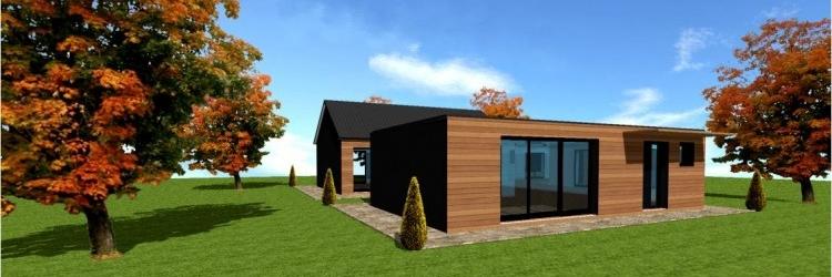 prix maison en bois en kit cl en main maison parallele. Black Bedroom Furniture Sets. Home Design Ideas